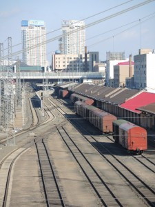 Rail yard near Central Railway Station, downtown